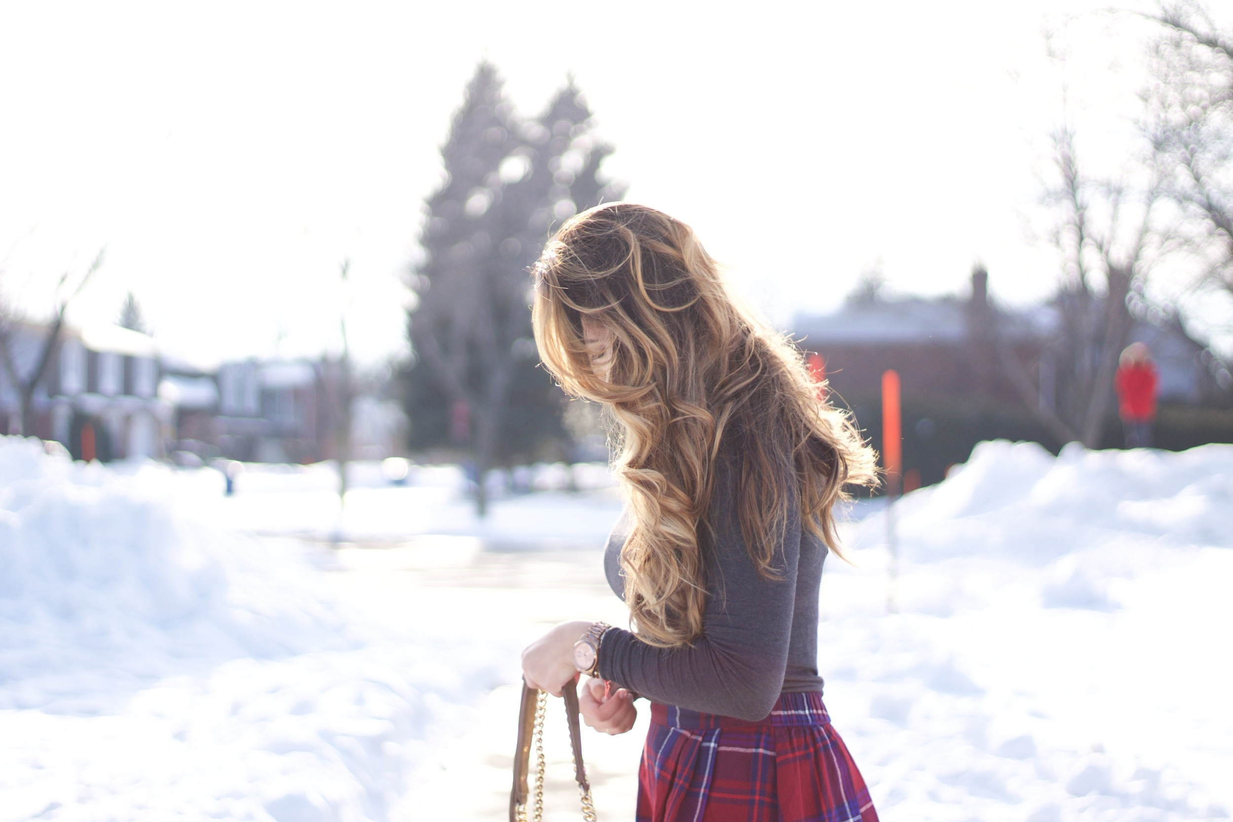 plaid skirt and spring style
