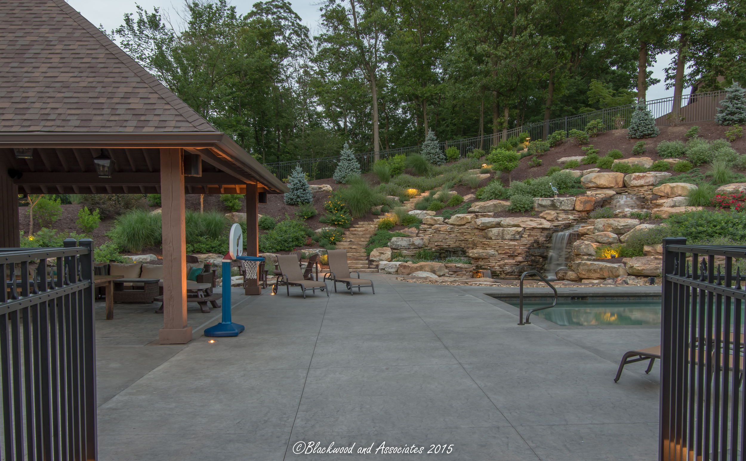 swimming pool landscaping design and build sewickley, pa
