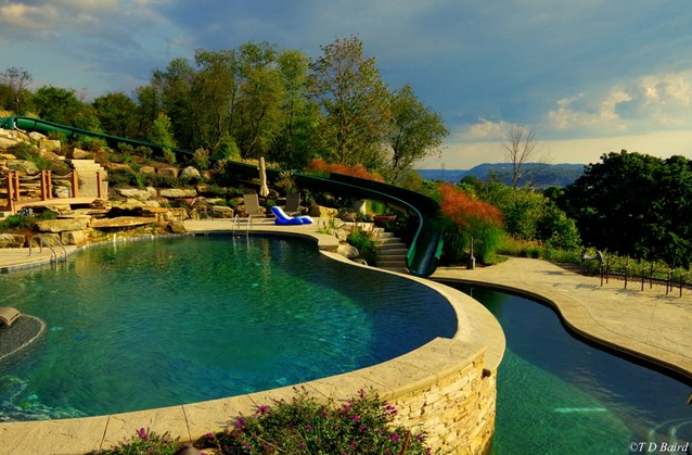 multi level swimming pool design in beaver county, pa