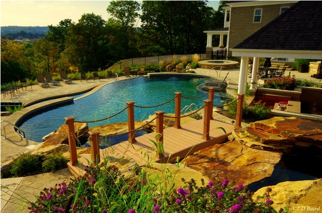 swimming pool patio and deck mountain view in beaver county, pa