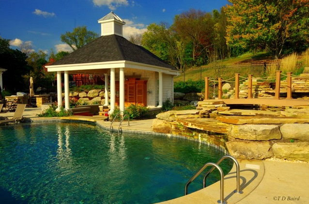 swimming pool and pool house in beaver county, pa