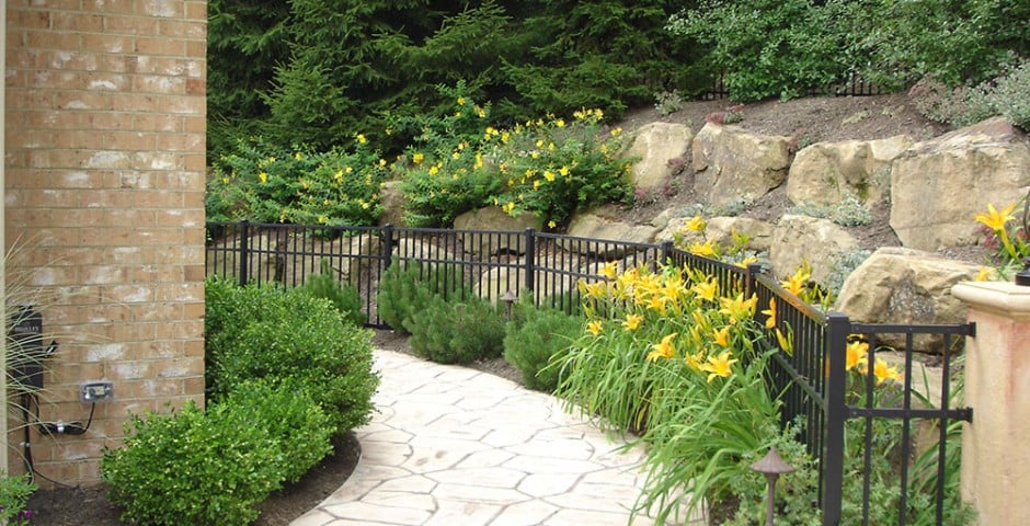 walkway and hillside landscaping in greensburg, pa