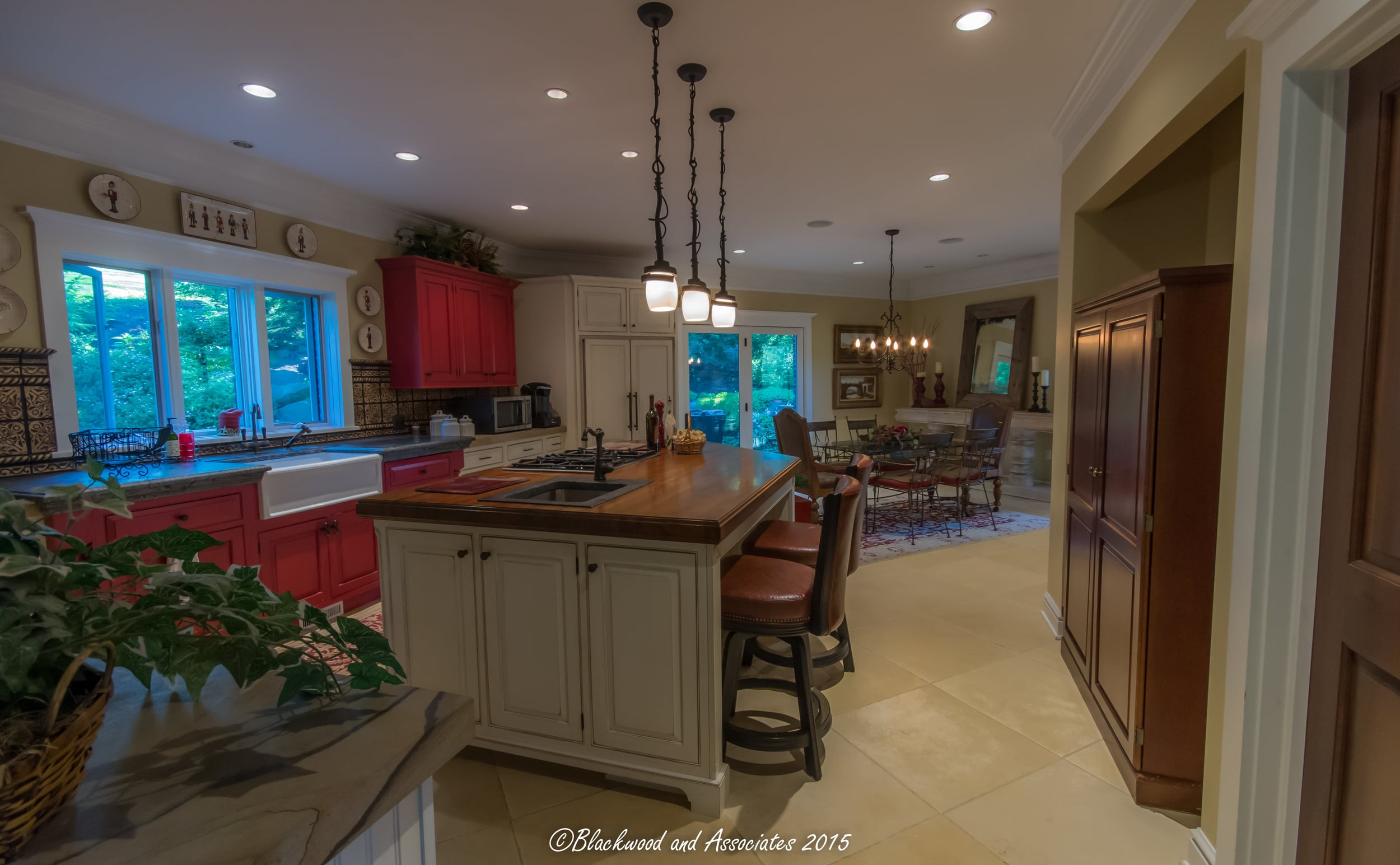 red and white kitchen cabinet remodel in canonsburg, pa
