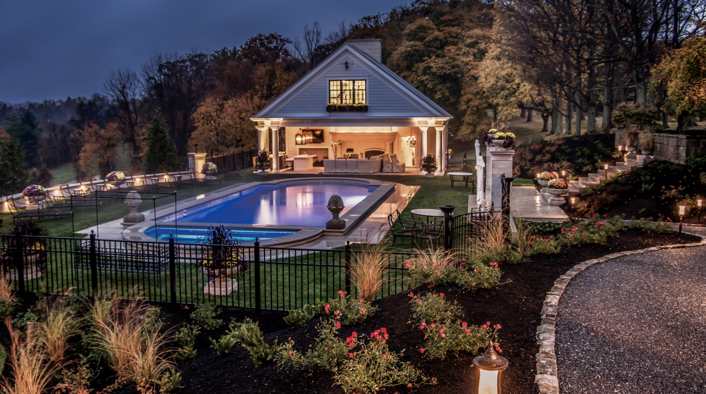 Outdoor lighting in a Sewickley, PA project Blackwood & Associates, read more about it  here .
