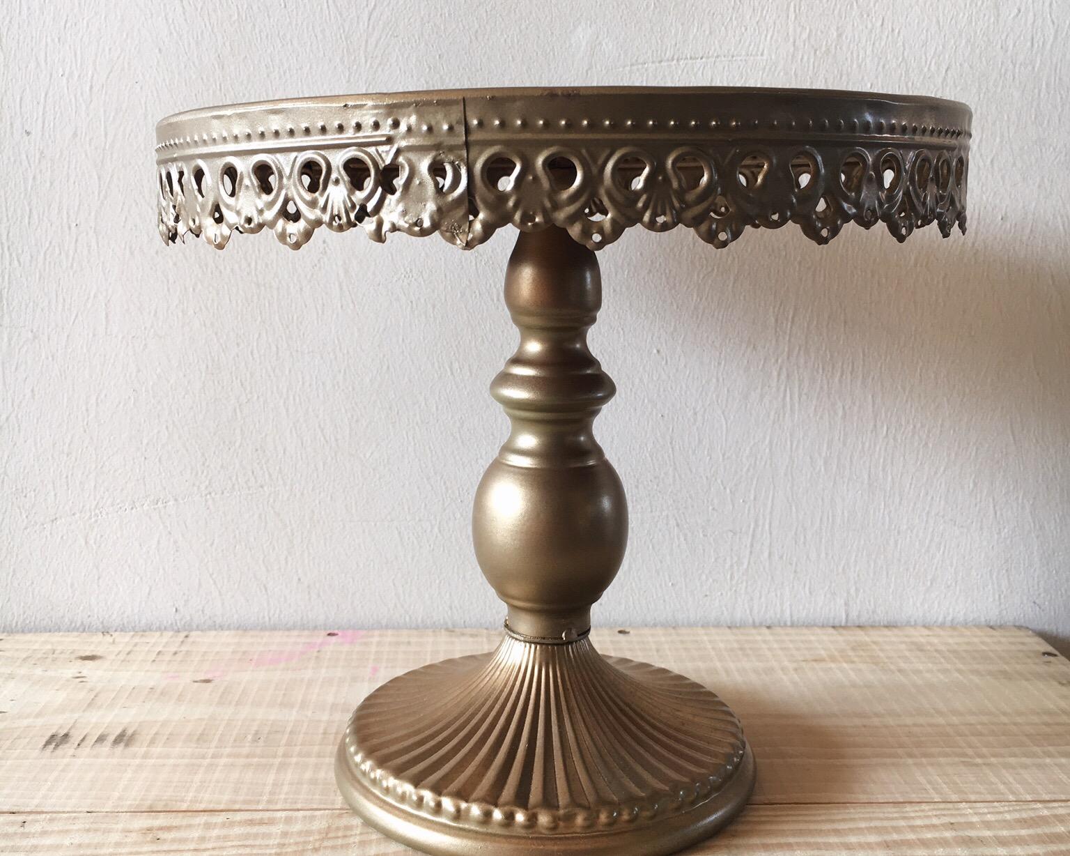 DT01 Bronze Metal Cake Stand