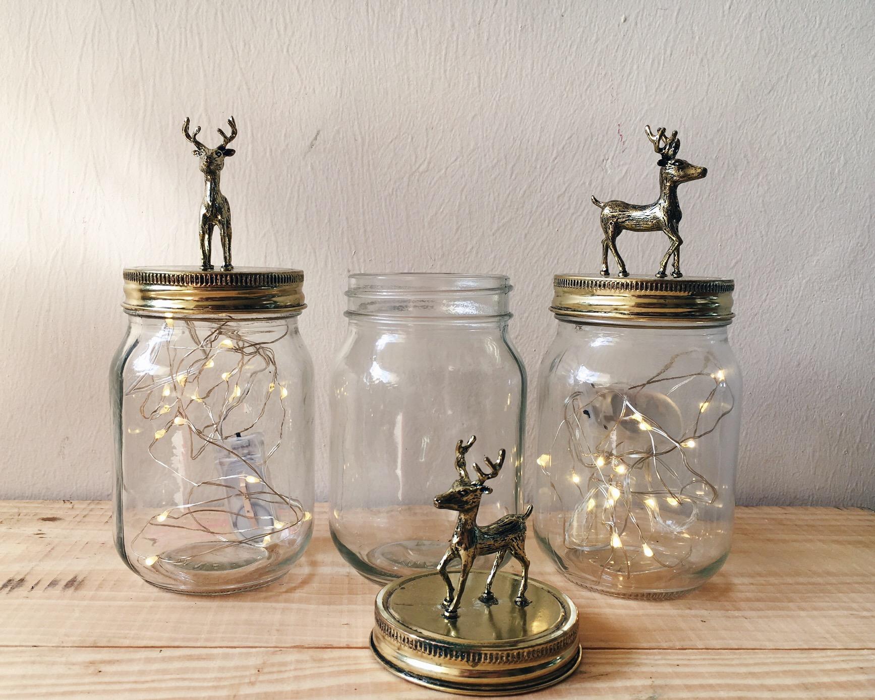 G01 Gold Antelope Jars Set