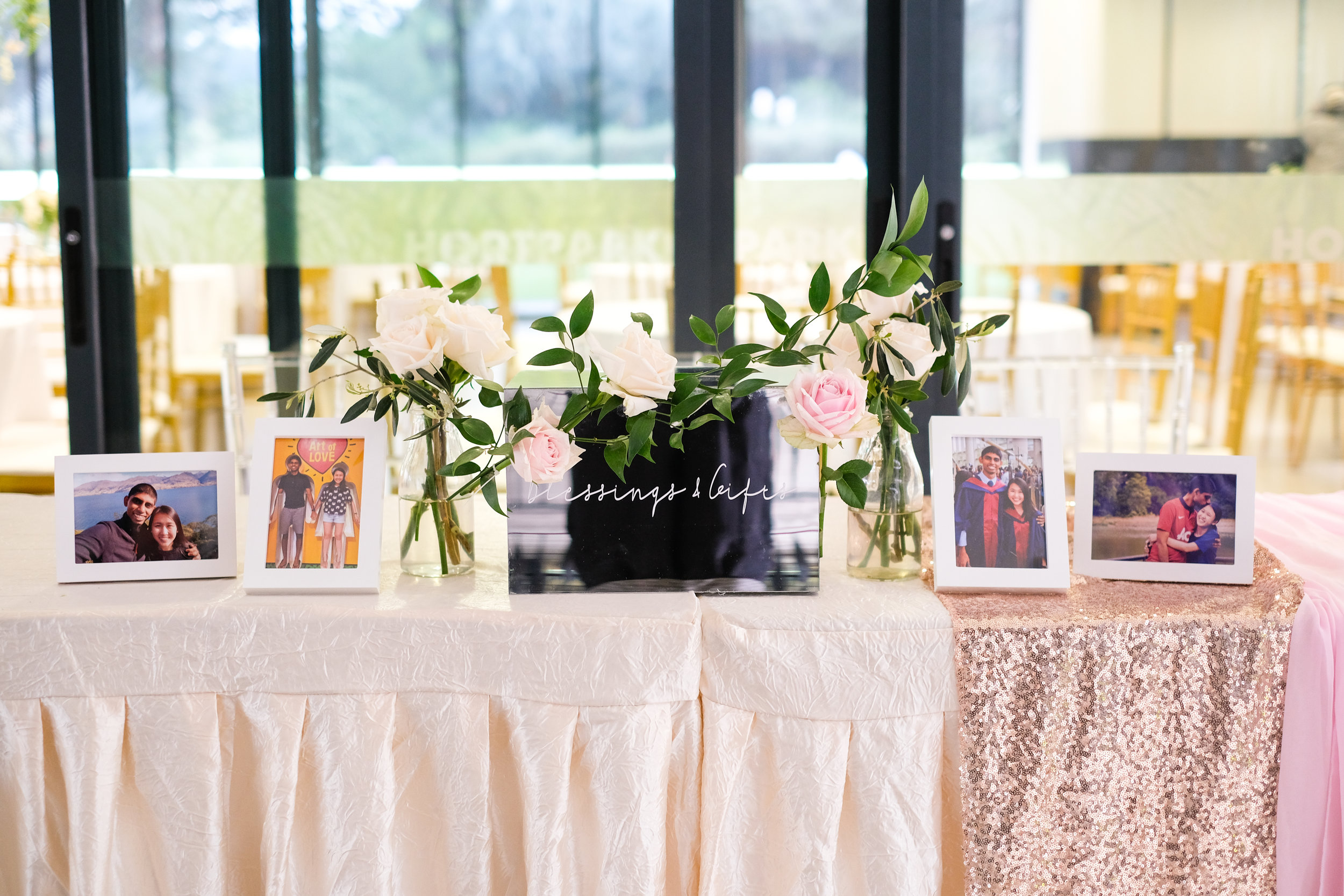 Hortpark reception table