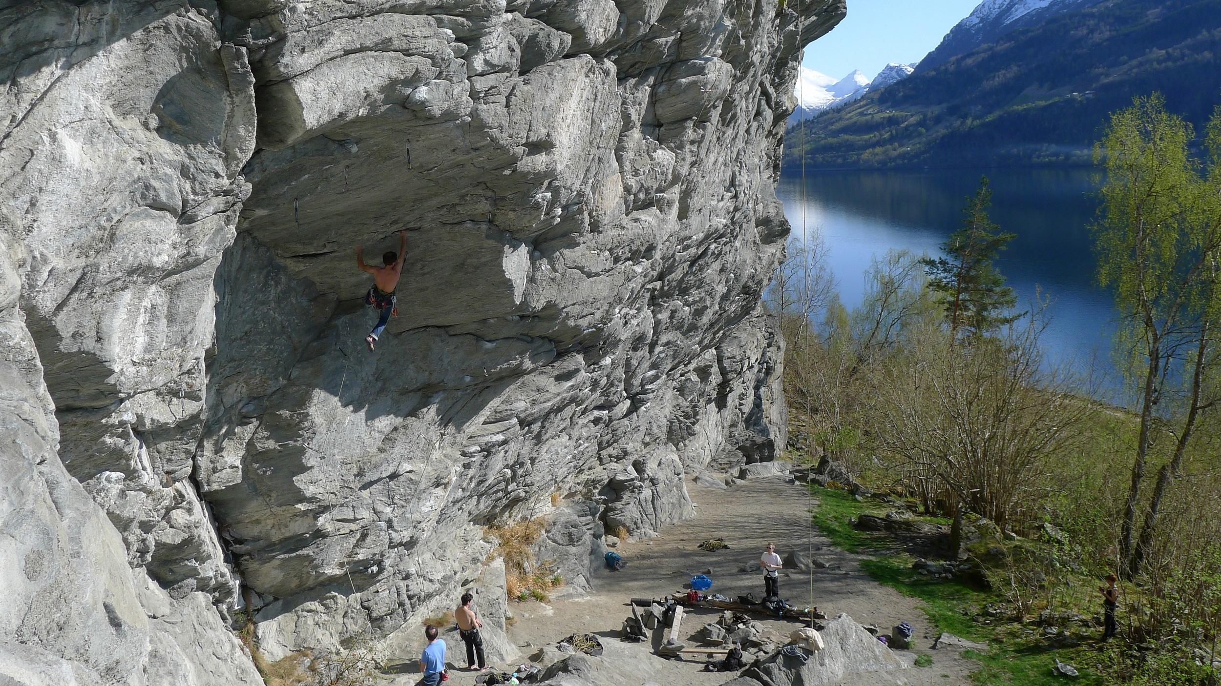 Beachen klatrefelt. Foto: Einar Løken/Breogfjell