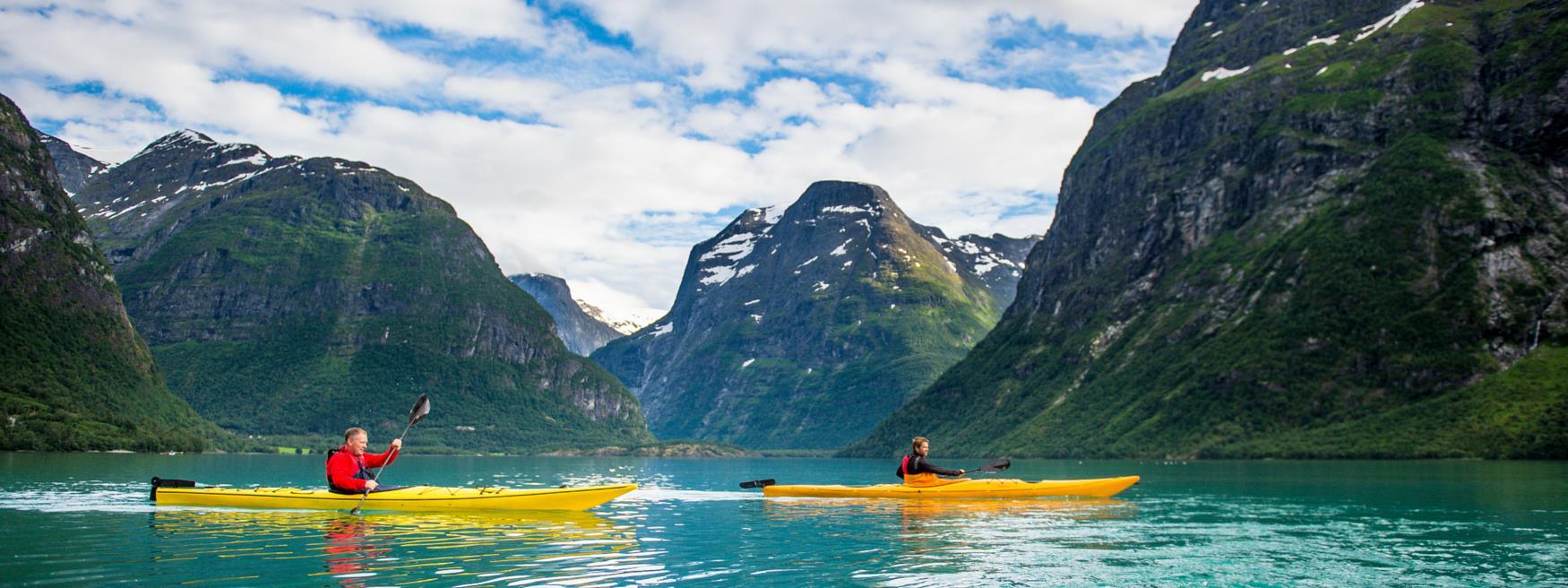 Kajakk - på fjorden og på Lovatnet