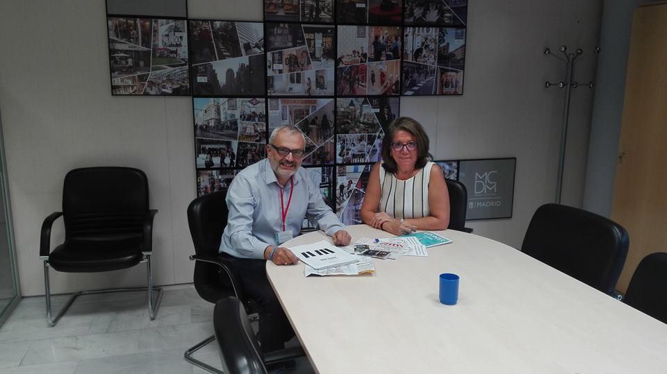 La reunión de Noche Madrid con Concha Díaz de Villegas, directora general de comercio del Ayto de Madrid, sirvió para completar los detalles del nuevo acuerdo de colaboracion para reforzar el proyecto FESTITUR.