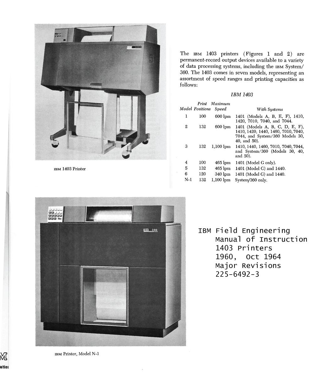 IBM 1403-N1 — TechWorks!