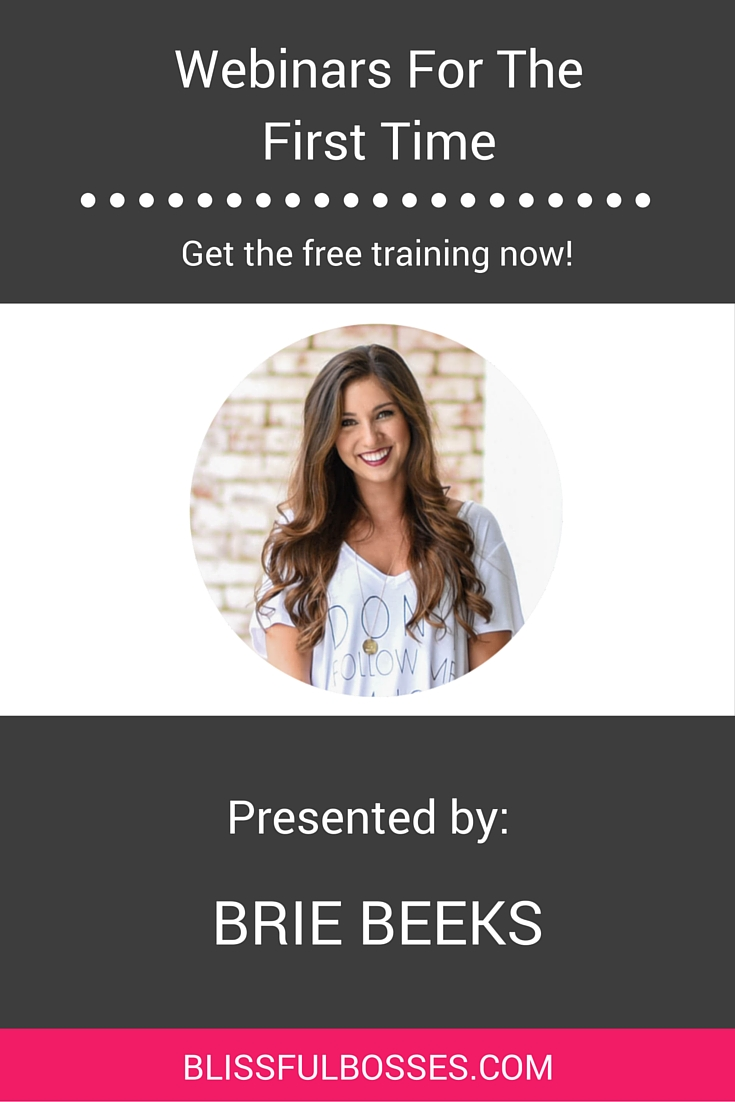 LEARN HOW TO USE WEBINARS FOR THE VERY FIRST TIME TO EXPLODE YOUR EMAIL LIST AND DRIVE SALES THROUGH THE ROOF! Register for this free training to learn how to overcome the fear of webinars, what you need to teach in your first workshop, how to use my favorite webinar platform for free, and more. Click through to register!