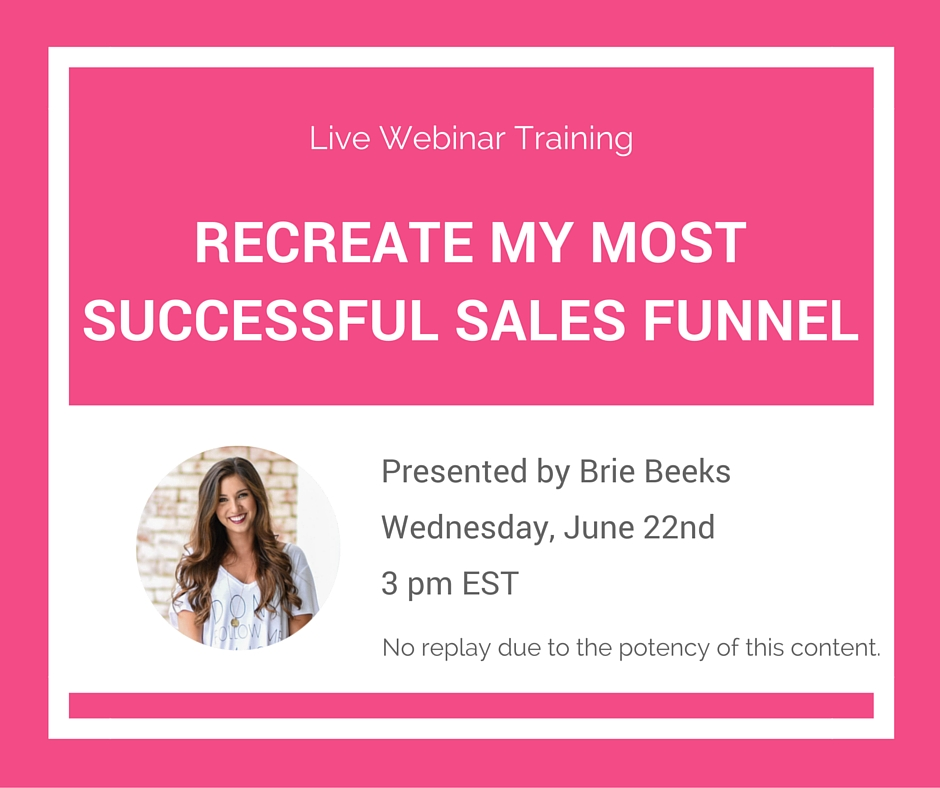 Create a highly profitable sales funnel for passive income in your online business! Click through for the free training!