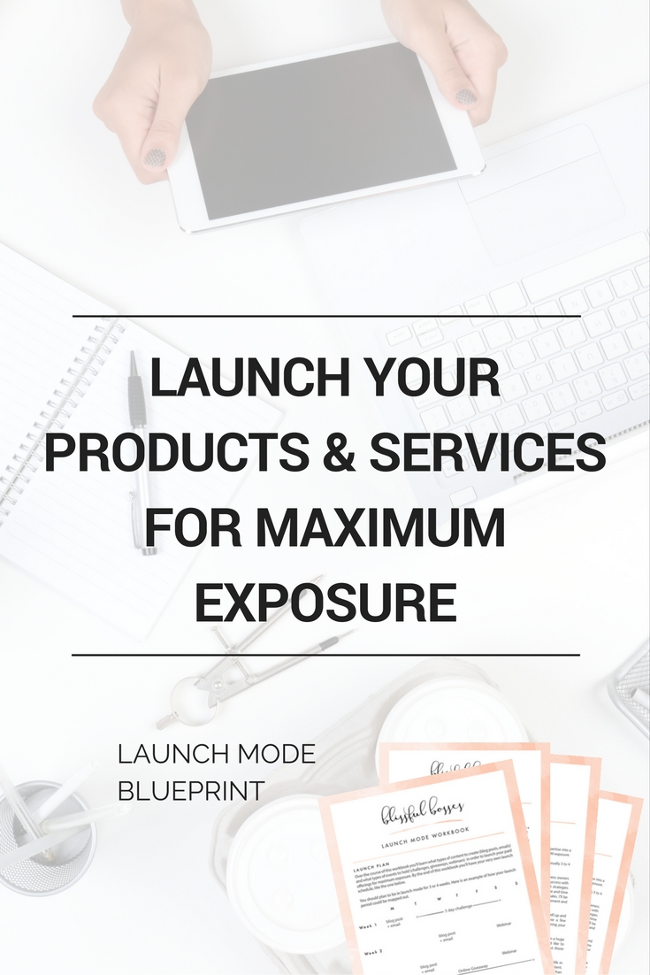 Launch your products and services for maximum exposure and sales with my blueprint filled with example content and live events to hold. blissfulbosses.com