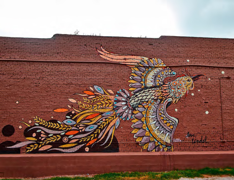 Living Walls Mural by John Tindel 2014