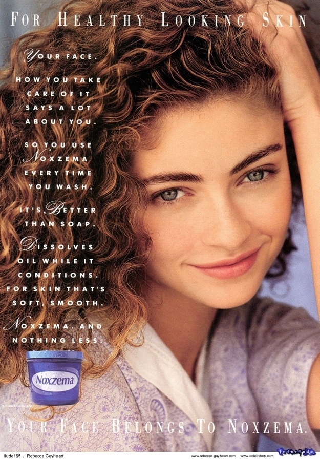 I HATED this ad so much. Desperately wanted her skin.