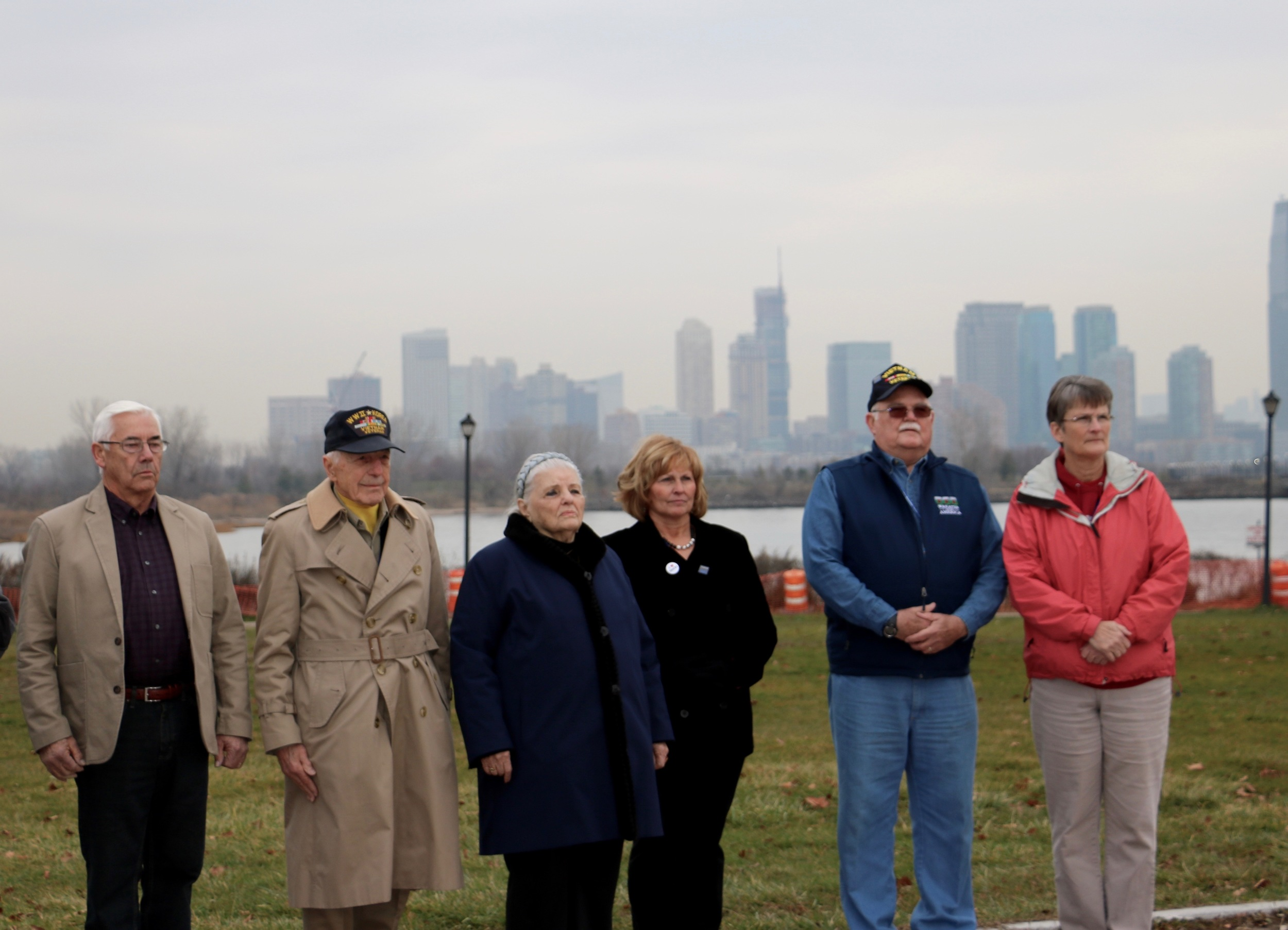 (From left to right: 2015 Escort to Arlington National Cemetery Grand Marshals and military veterans Gordon Kelley and Carmine Pecorelli, Holocaust survivor Luna Kaufman, Maine's First Lady Ann LePage, Wreaths Across America Chairman of the Board Wayne Hanson, and wife Ann Hanson.)