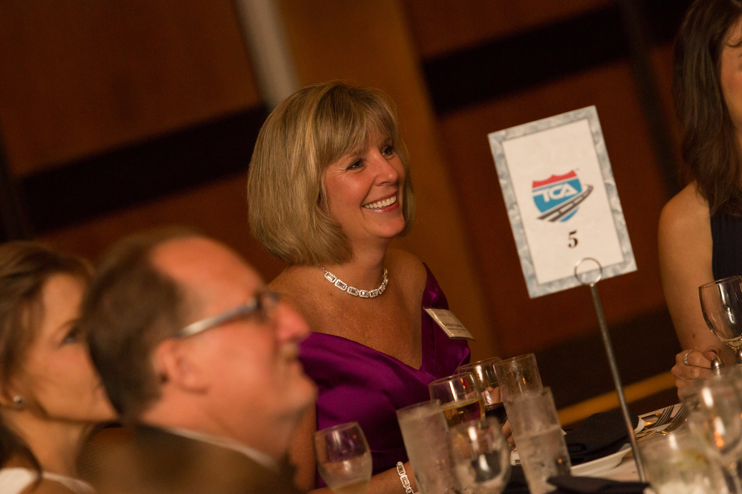 Debbie seen here at a TCA Gala to benefit Wreaths Across America
