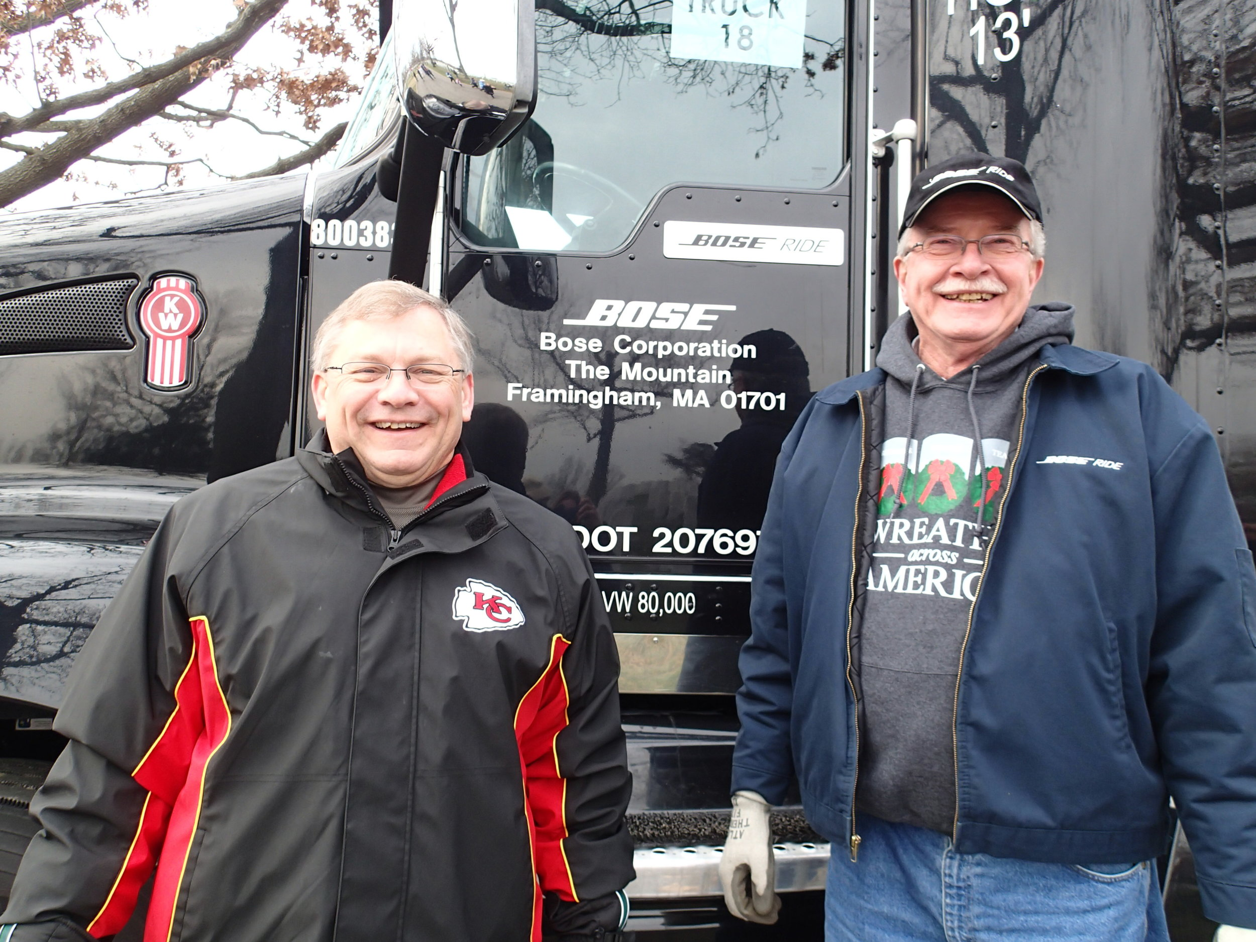 Al Anderson (left) and Bose Ride driver Gary Hussey