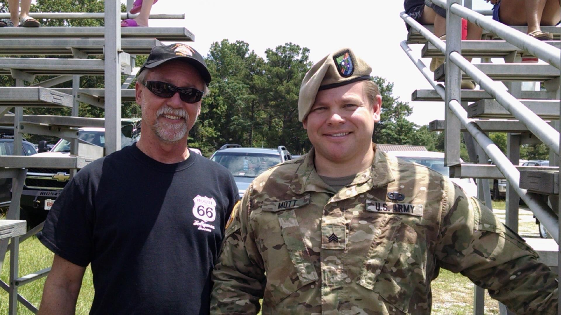 David Mott and son, Nick Mott, U.S. Army Ranger.