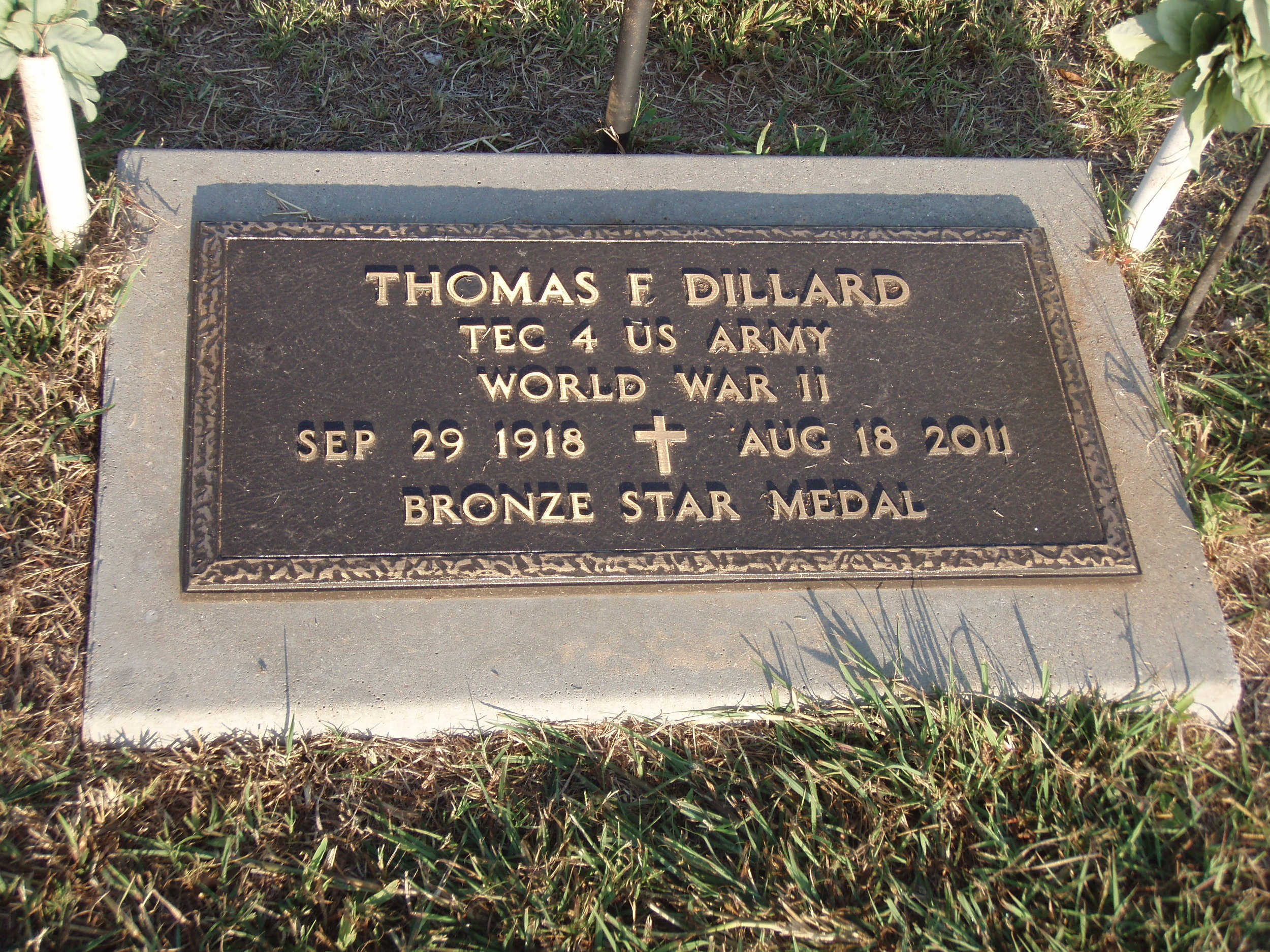 Dillard military marker.JPG