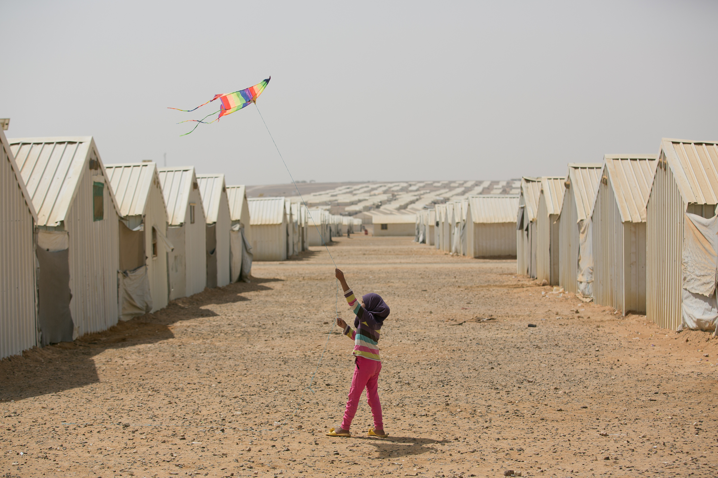 Azraq Refugee Camp, Jordan