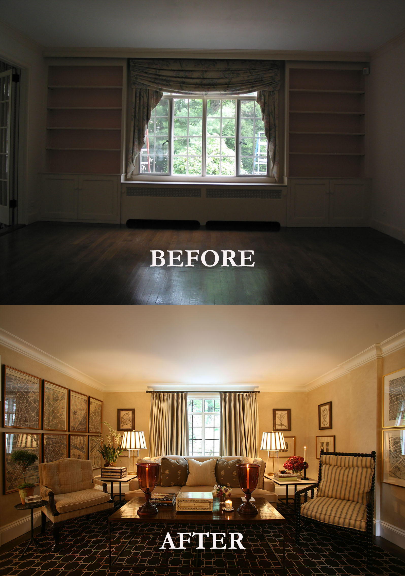Rod Winterrowd | Before and After | Bronxville, NY | Living Room
