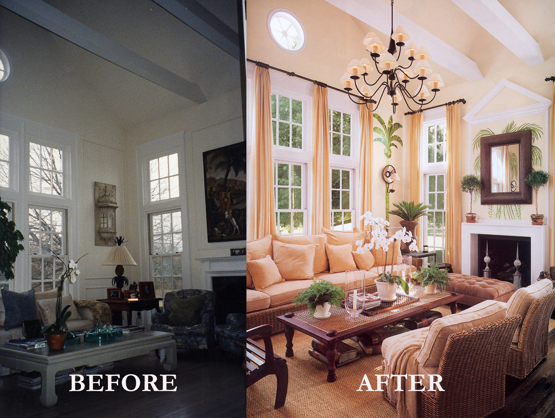 Rod Winterrowd   Before and After   Southampton, NY   Sitting Room