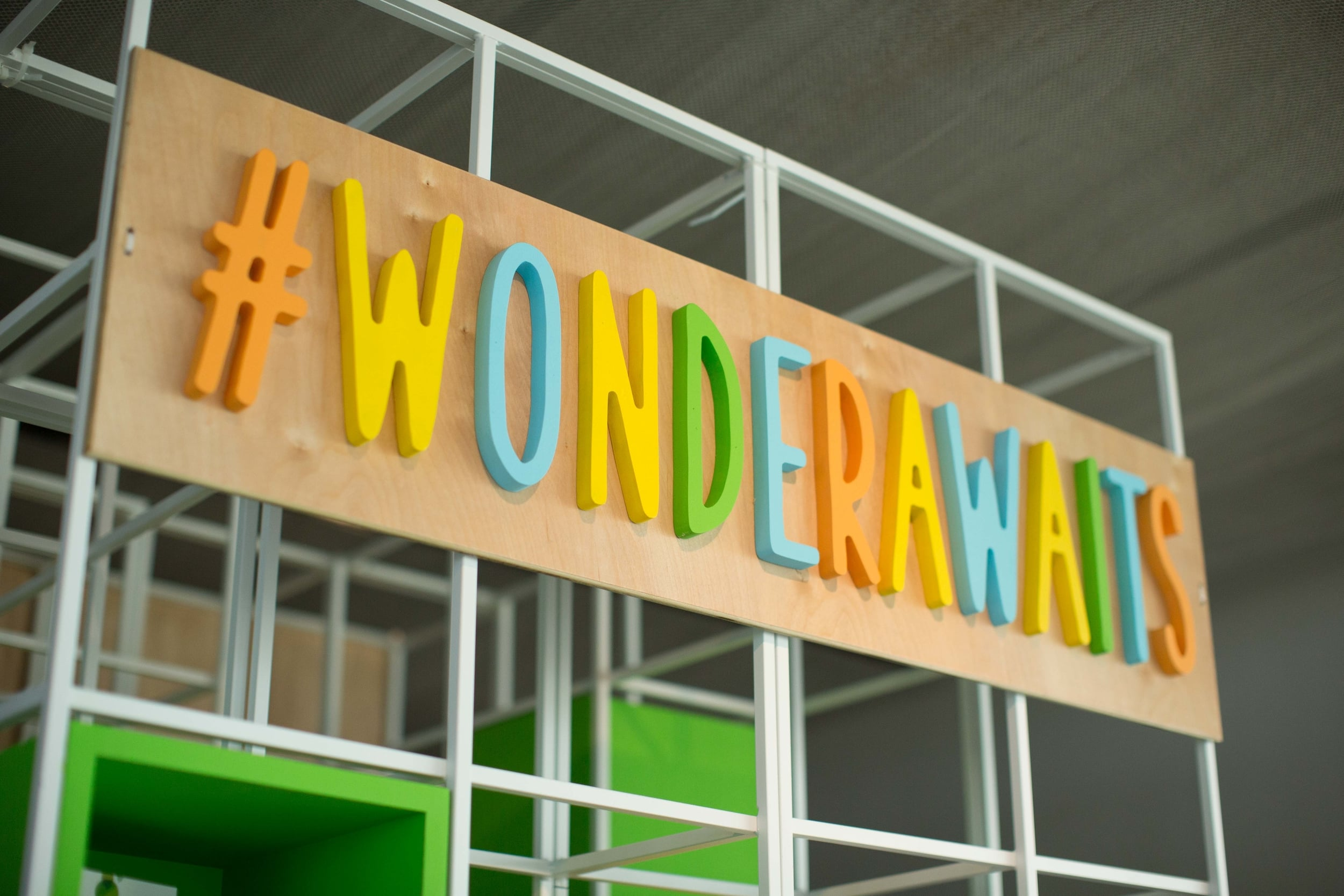 "Social Media sign ""#Wonderawaits"" at Westin Holiday Family Event"