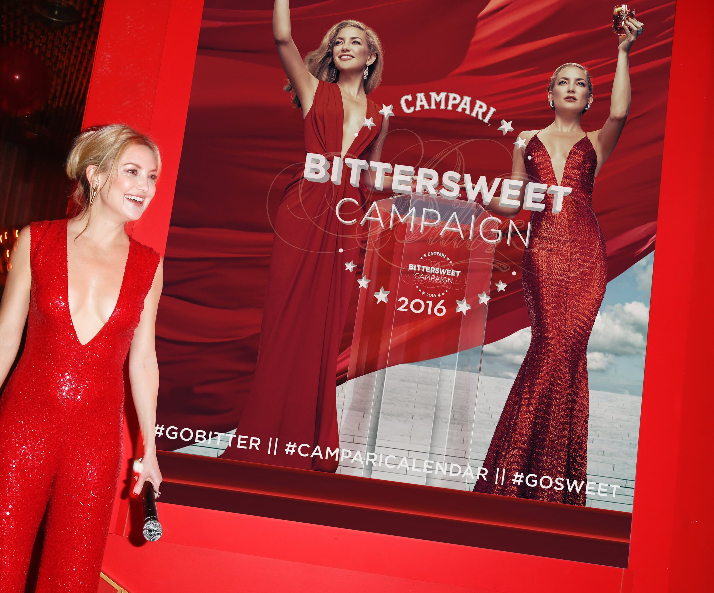 Calendar star, Kate Hudson at Campari Calendar 2016 Launch, The Standard Highline New York