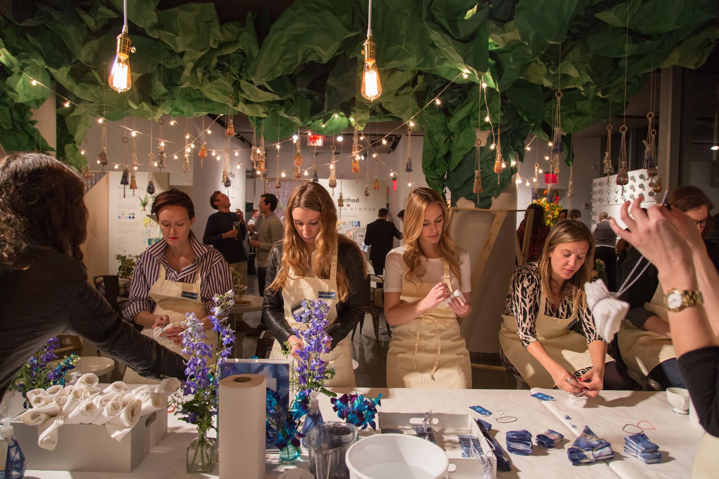 Shibori Dye Table at Method x Rebecca Atwood - New York Editor's Event