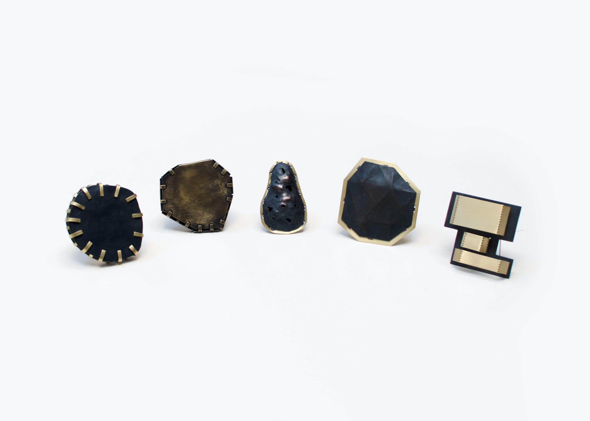 5 Folded Brooches (2016)