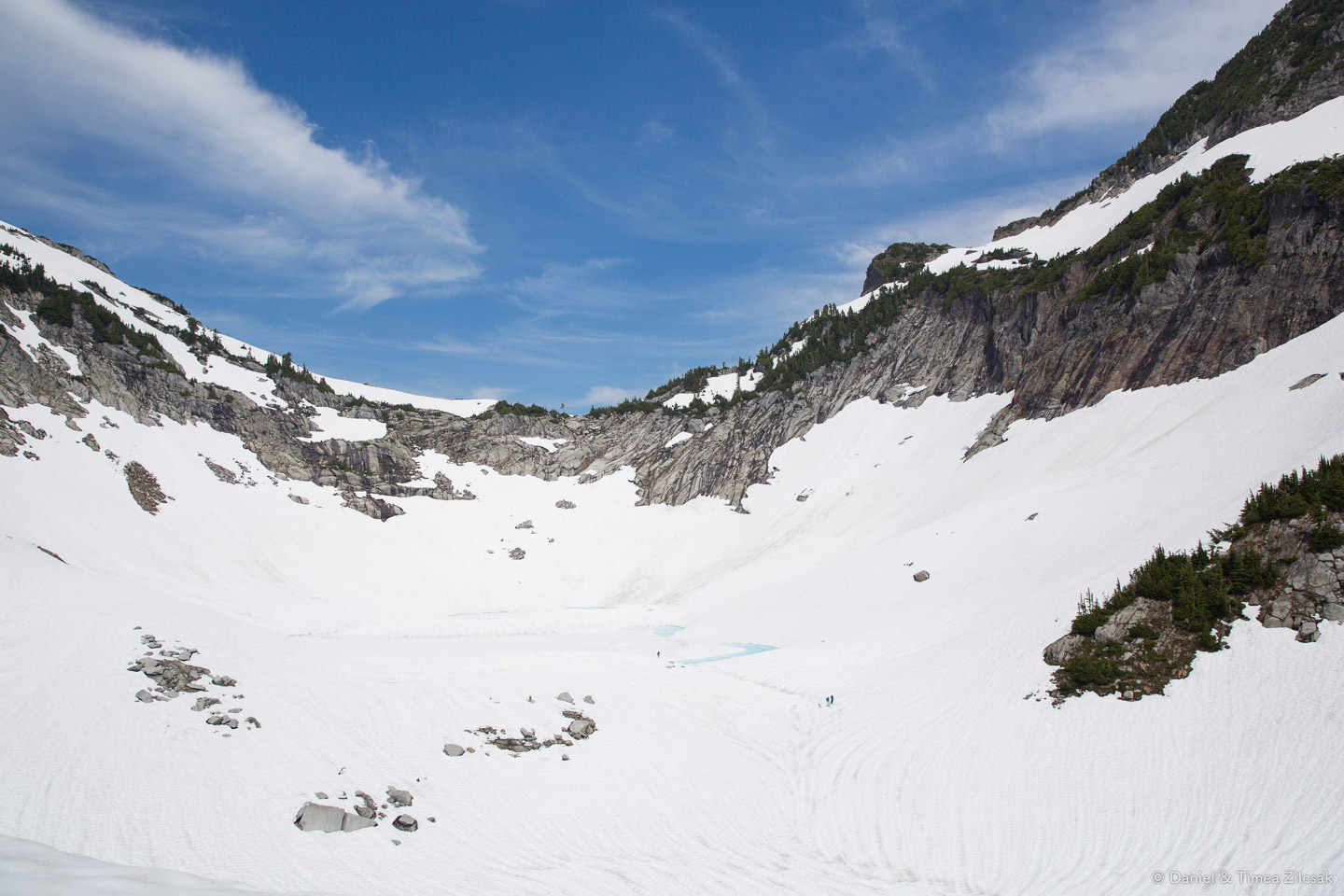 Below the snow there might or might not be Vesper Lake