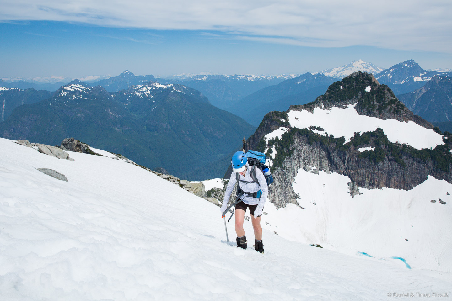 Final steps on the snow field