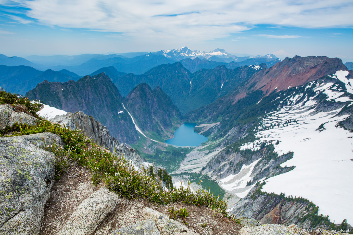 This is Copper Lake, to the north east of Vesper Peak (photo taken from the summit)