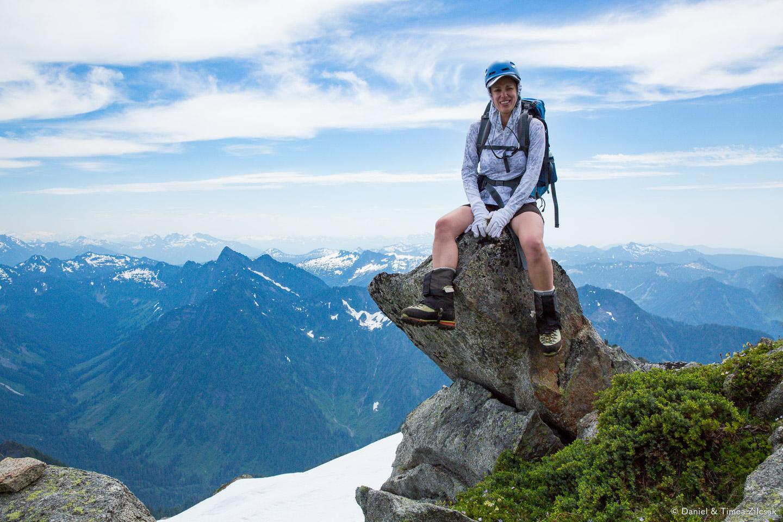 View from the rocky summit of Vesper Peak