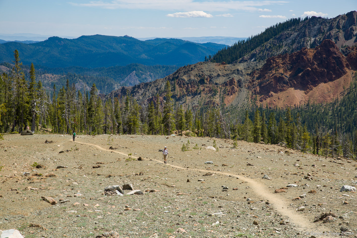 Moon Landing area right above camp and below Navaho Pass