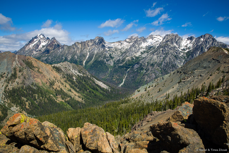 View of Stuart Range from the county line ridge