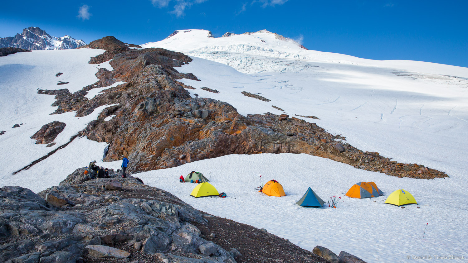 Our camp at the bottom of Easton Glacier, Mt Baker Climb