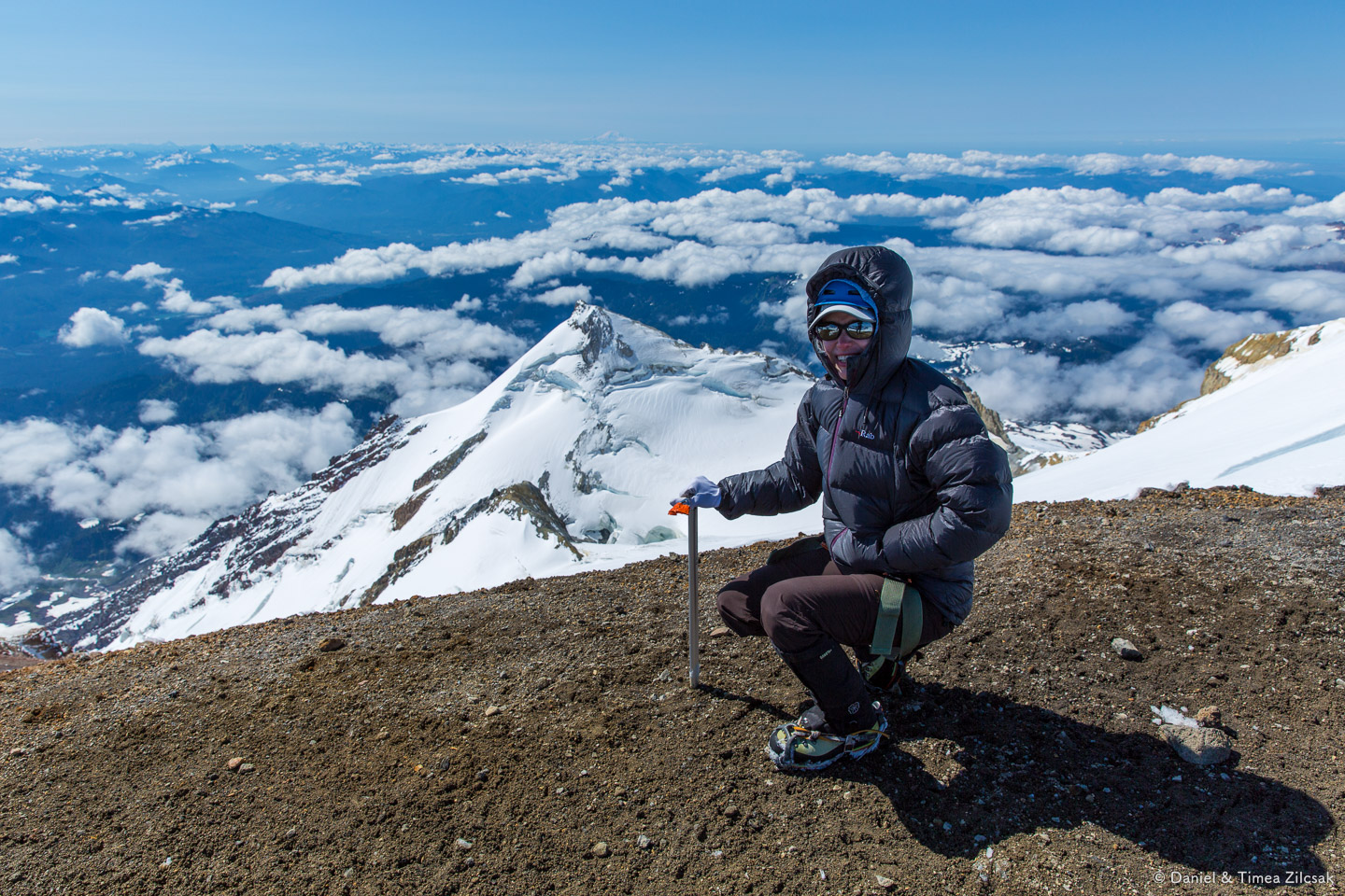 Summit photo, Mount Baker 10781 ft, July 26 2014