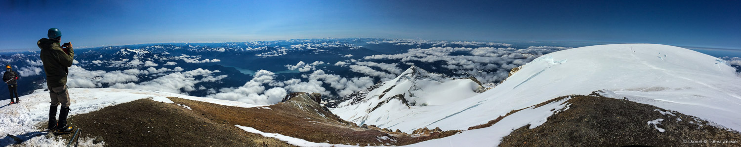 Mount Baker summit panorama, north to south