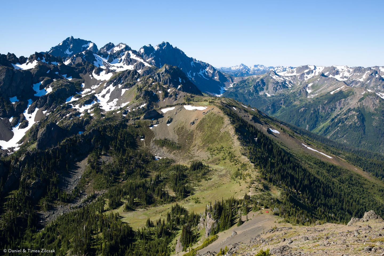 Marmot Pass view from Buckhorn Mountain Ridge