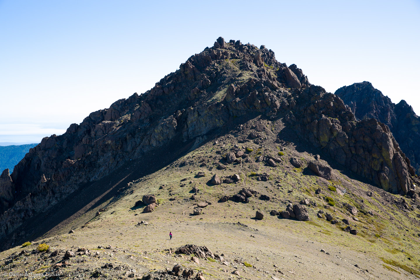 View of Buckhorn Mountain's top from the false summit.