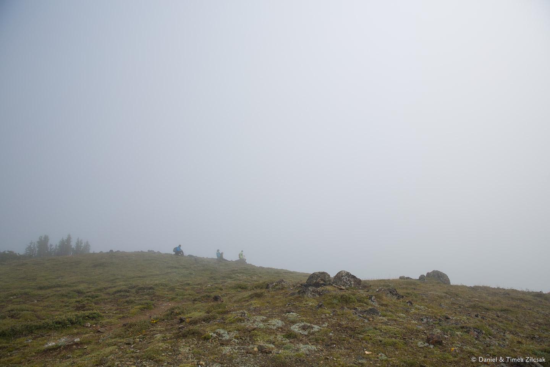 Waiting for the cloud to pass, at Marmot Pass, Olympic Peninsulla