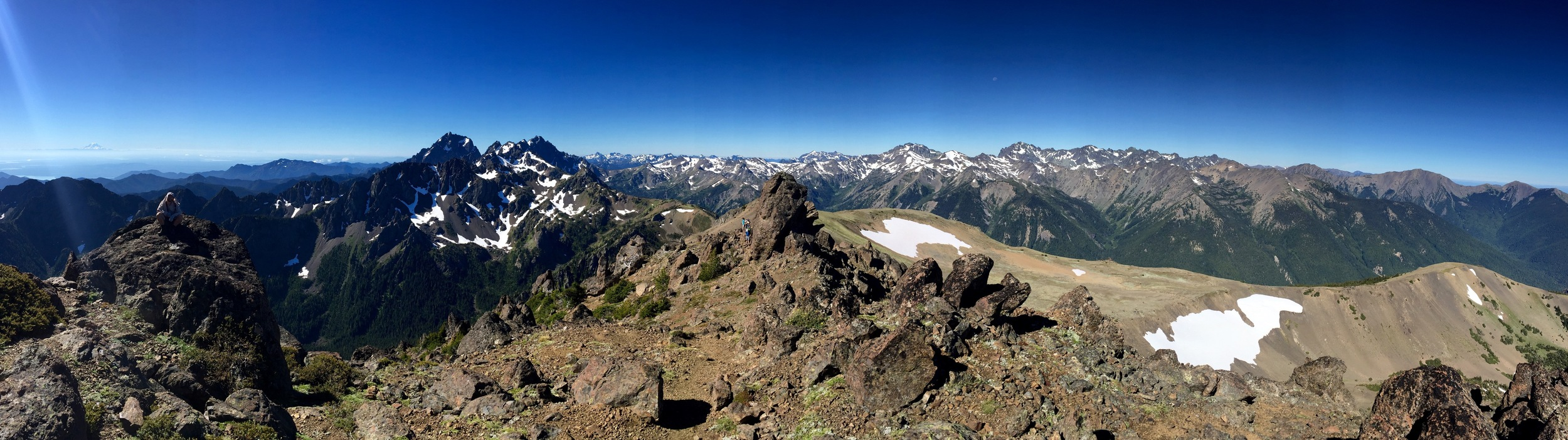 Panoramic view from southeast to southwest from Buckhorn Mountain