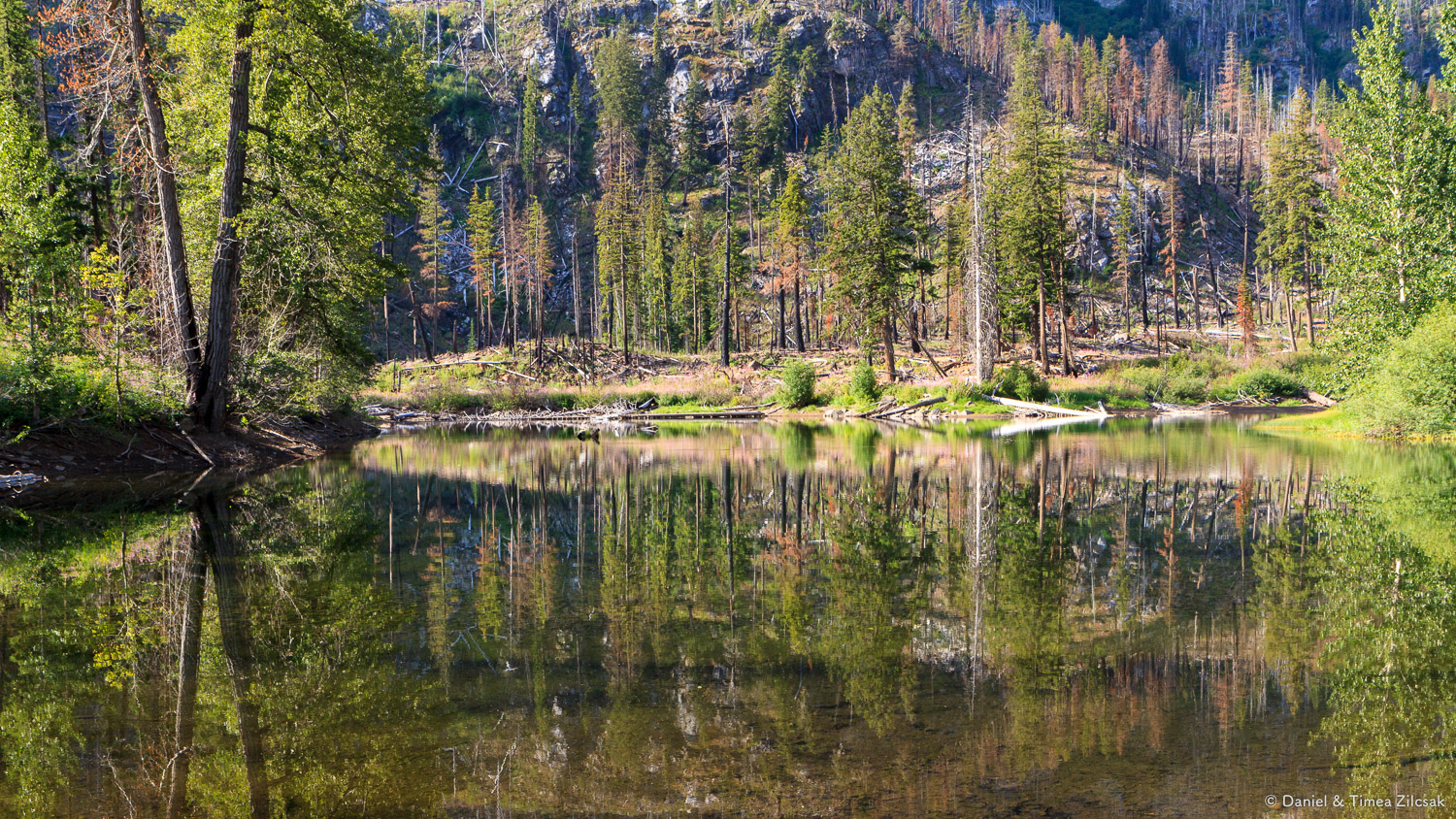Little Eightmile Lake, a great spot for a snack and rest break