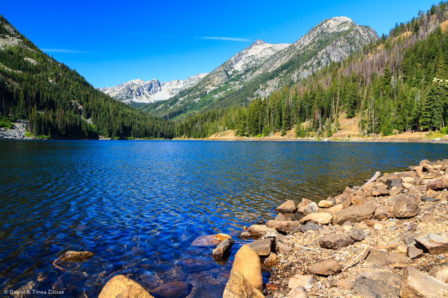 Eightmile Lake,The Enchantments (view west)