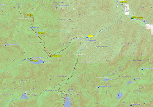 The Enchantments, Eightmile/Caroline Zone Map (for information only)