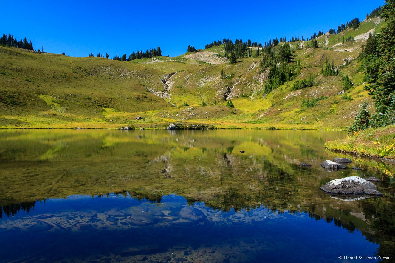 Heart Lake, Backpacking the High Divide - Seven Lakes Basin Loop