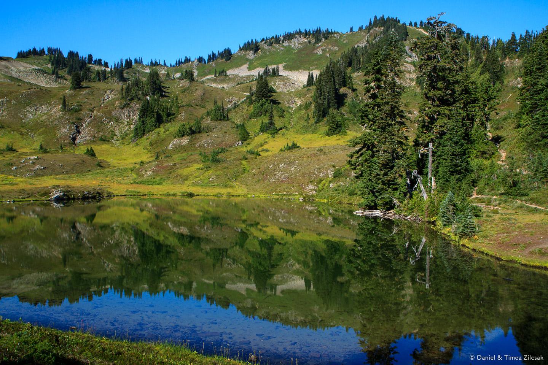 Heart Lake view from the High Divide - Seven Lakes Basin Loop, O